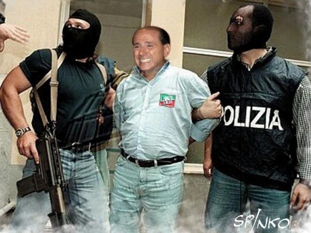 Berlusconi messo in manette dagli hacker