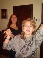 auntie raffaella (mother of gabriele & annarita) and cousin nicoletta (carlo's sister)