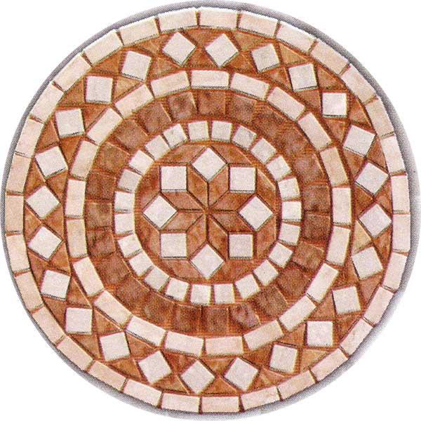 mosaico rosa perlato : Rosoni in marmo anticato