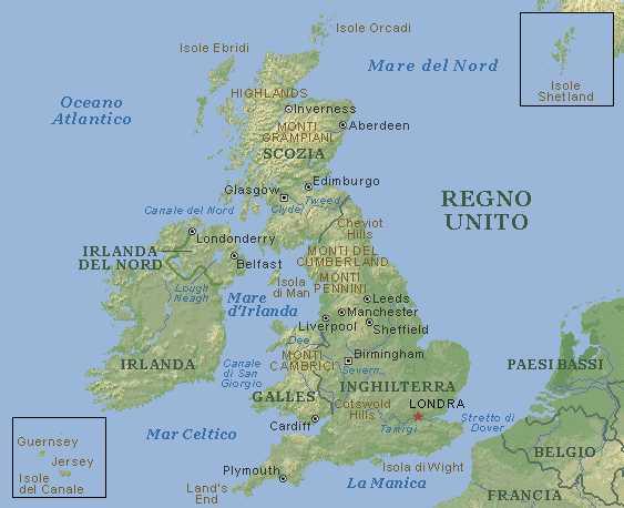 Cartina Geografica Regno Unito Fisica.Cartina Regno Unito Imagui
