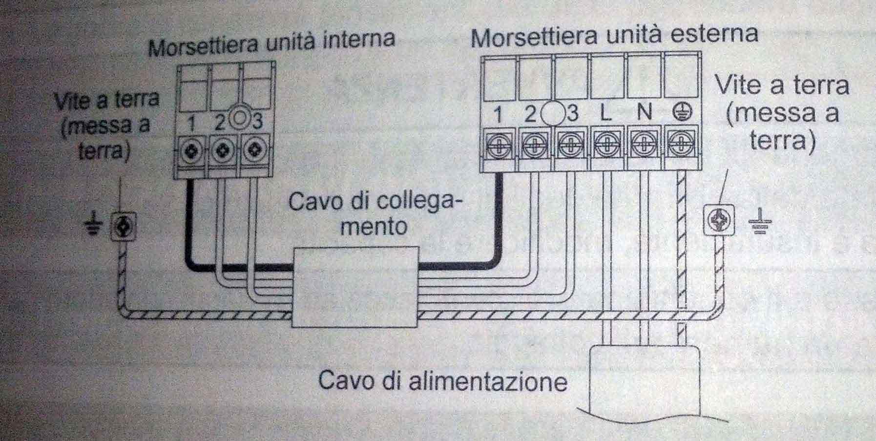 Schemi Elettrici Elettrodomestici : Cablaggio elettrico general ashg12lmca interna esterna impianti