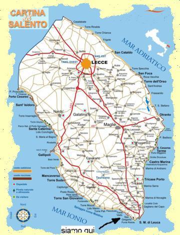 Cartina Spiagge Puglia Salento.Salento Puglia Case Vacanza Sul Mare