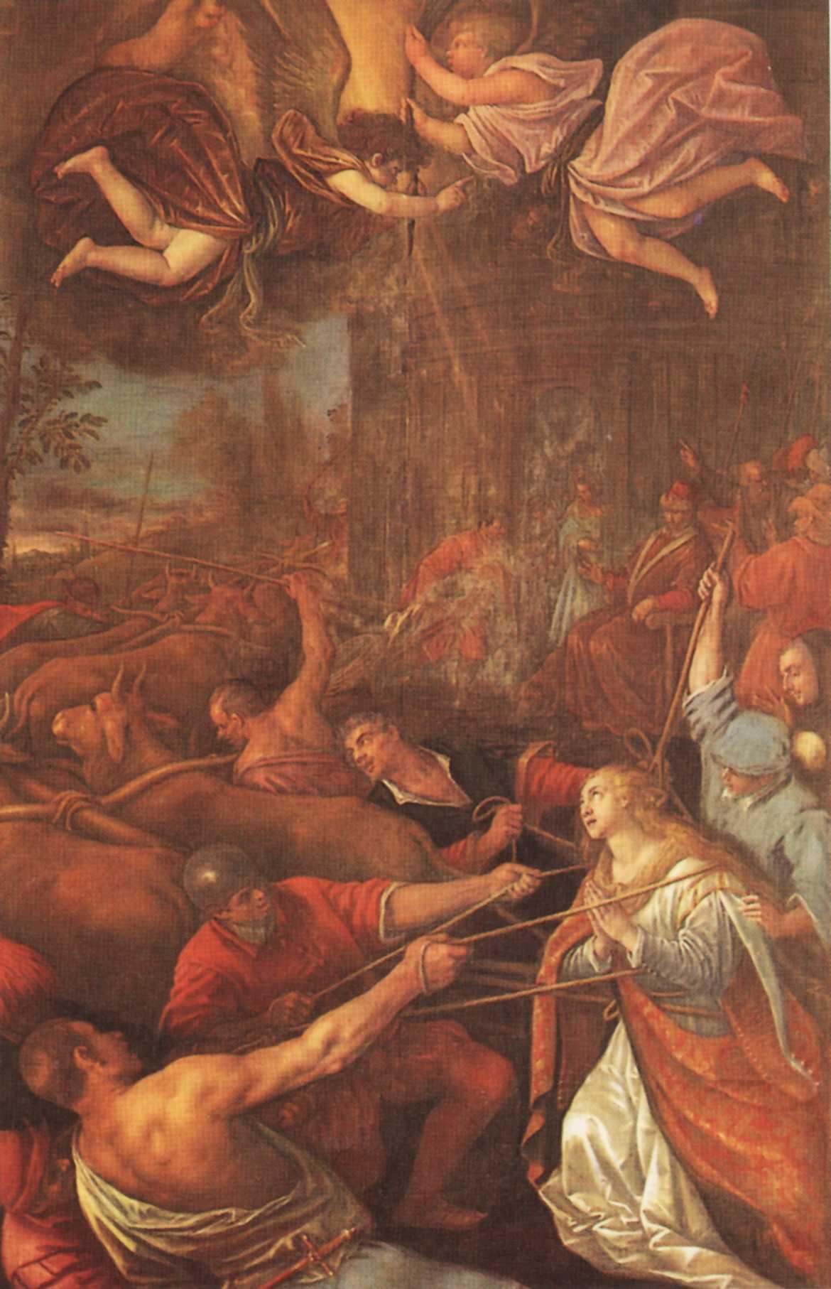 S. Lucia trascinata invano al martirio per prodigio divino