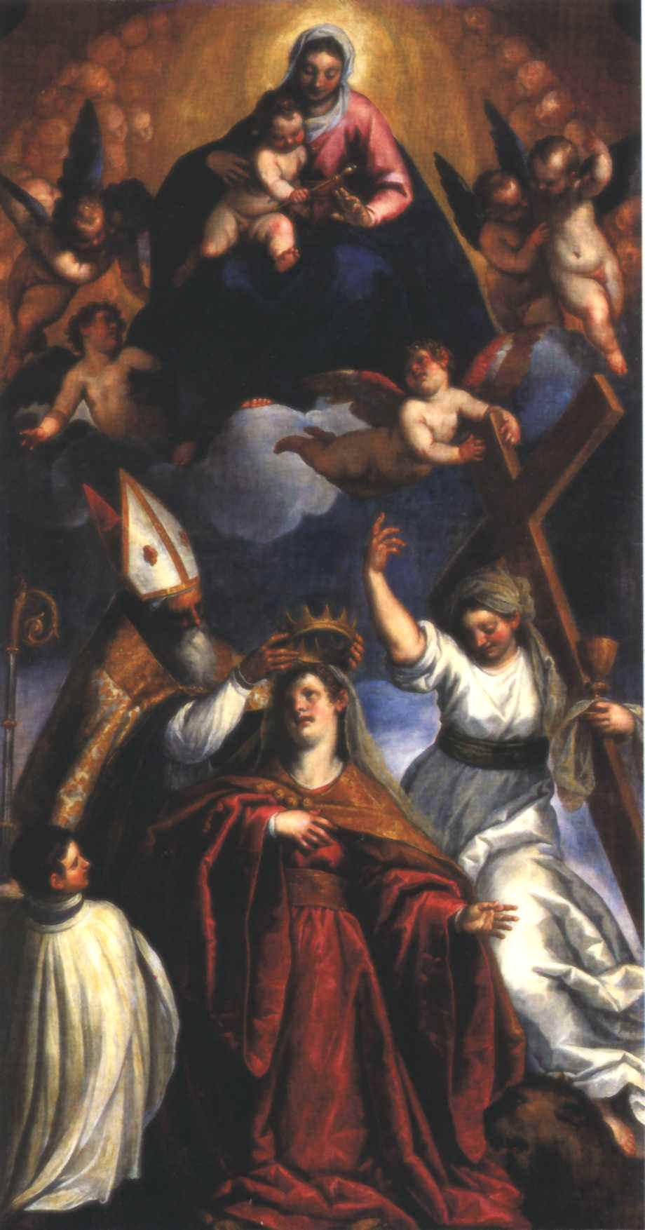 La Vergine Assunta assiste all' incoronazione di Venezia