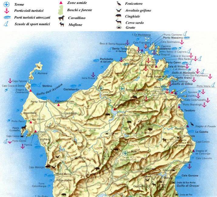 Sardegna Settentrionale Cartina.Cartine E Mappe Della Sardegna Carta Ambientale