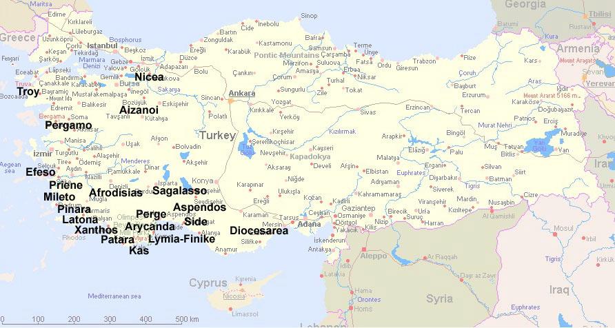 Greek Theater Map World