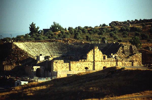 Gerasa Jerash Jordan Theatres Amphitheatres Stadiums