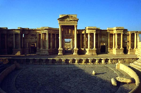 palmira syria siria theatres amphitheatres stadiums odeons