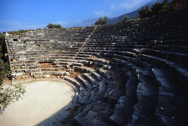 Kas Turkey Theatres Amphitheatres Stadiums Odeons Ancient