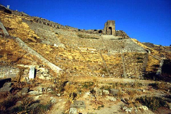 Pergamo Bergama Turkey Theatres Amphitheatres Stadiums