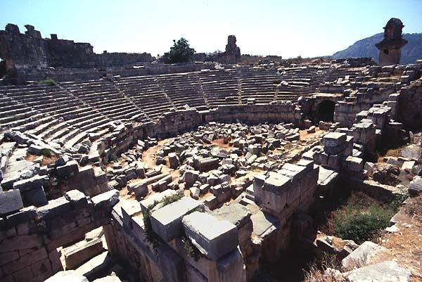 Xanthos,Xanto,Turkey,Theatres,Amphitheatres,Stadiums -5376