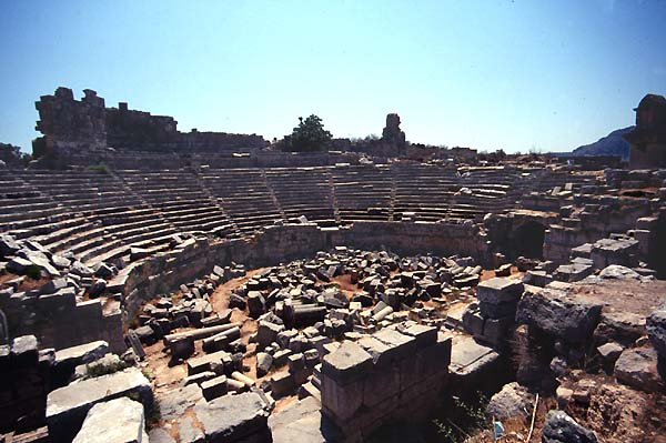 Xanthos Xanto Turkey Theatres Amphitheatres Stadiums