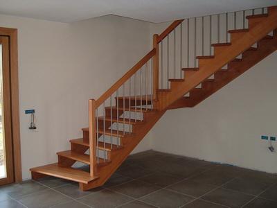 Scale a giorno in legno completamente in legno massello - Scale interne a vista ...