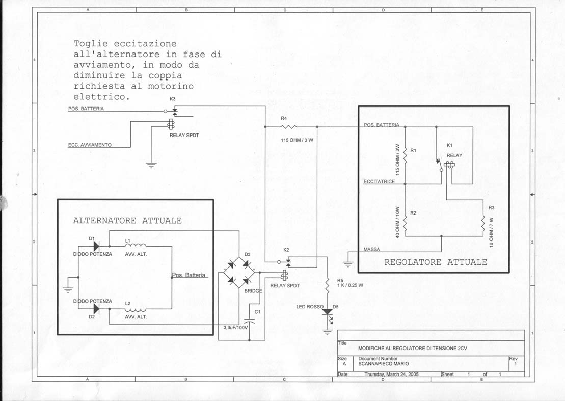 Schema Elettrico Regolatore Di Tensione Velocità Motore Elettrico Corrente Continua : Miglioria impianto elettrico