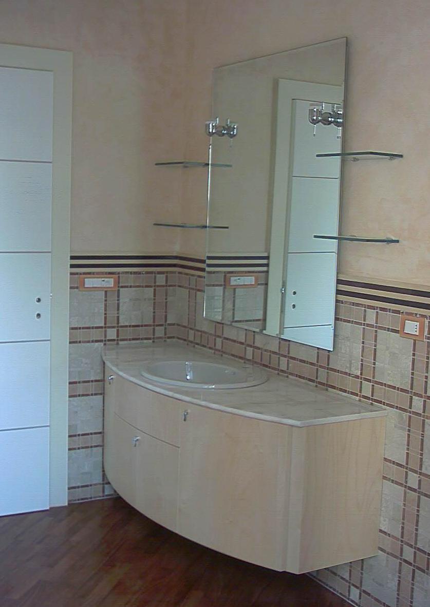 Mobile bagno in legno acero - Greca per bagno ...