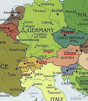 Europa Centrale Cartina.L Europa Centrale In Moto
