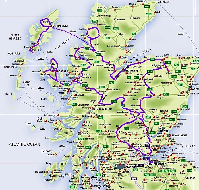 scotland large map jpg pictures to pin on pinterest