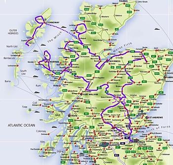 Scozia Cartina Stradale.La Scozia Vista Dalla Moto