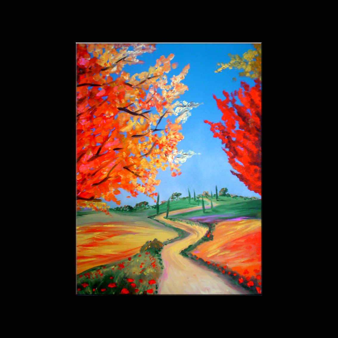 Dipinti fiori tutte le offerte cascare a fagiolo for Fiori dipinti a olio