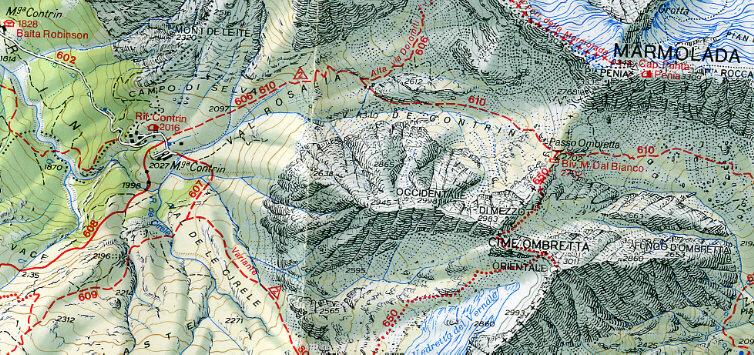 Cartina Tabacco 015.Dolomiti 2005