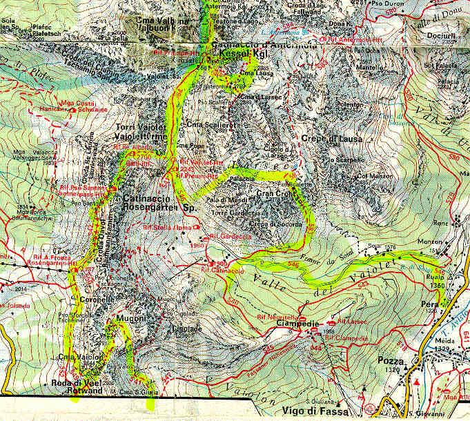 La mappa della zona for Creatore della mappa della casa