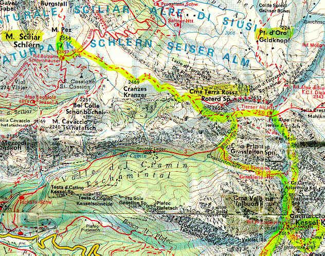 La mappa della zona for Mappa della costruzione di casa
