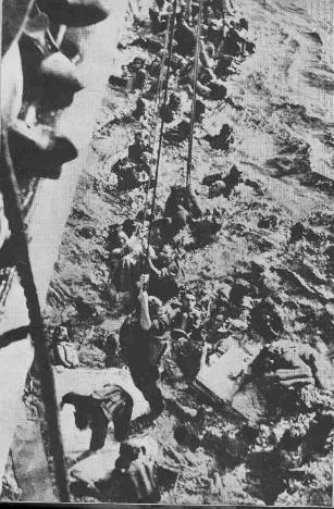 fotografie della caccia alla Bismarck