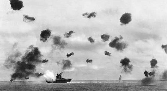 galleria fotografica della battaglia navale del Mar dei Coralli