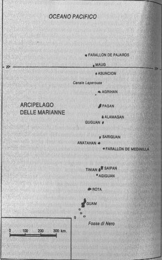 battaglia delle marianne: cartina dell'arcipelago