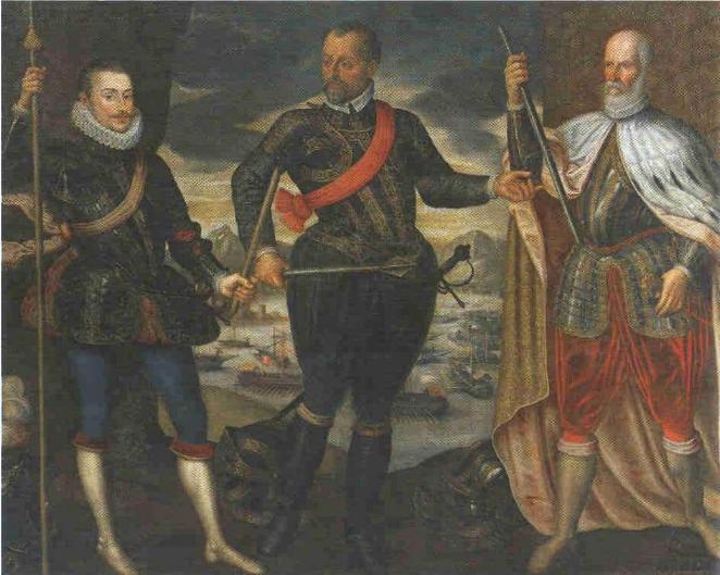 lo scontro sul lato destro nella battaglia navale di Lepanto