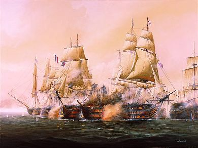 an analysis of the sea battle at trafalgar The battle of trafalgar was a sea battle fought on 21 october 1805 between the navies of france and spain on one side, and great britain on the other the battle took place near cape trafalgar (a cape is a piece of land sticking out into the sea), which is in southwest spain.
