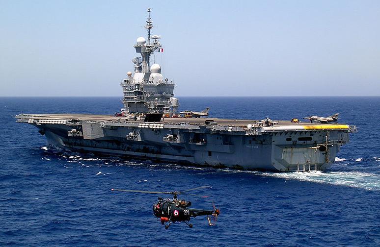 caratteritstiche tecniche della portaerei francese De Gaulle