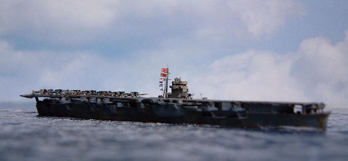 fotografia della portaerei giapponese Hiryu