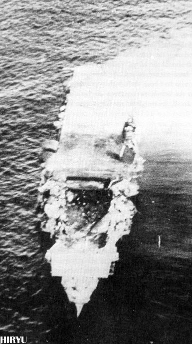 la fine della portaerei Hiryu
