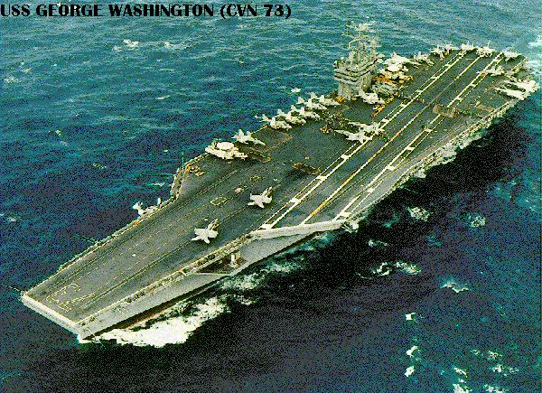 AIRCRAFT CARRIER GEORGE WASHINGTON CVN 73-