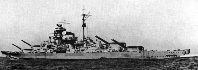 foto della corazzata tedesca Tirpitz