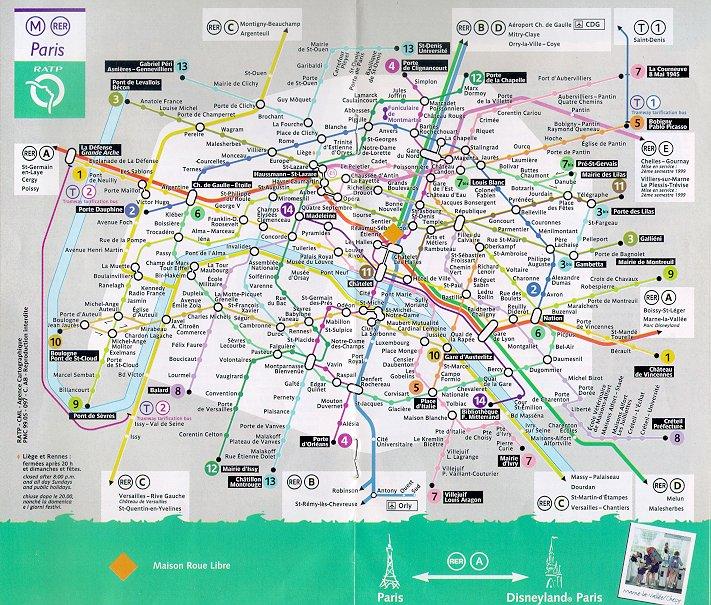Cartina Parigi Con Monumenti E Metro.Parigi 1999
