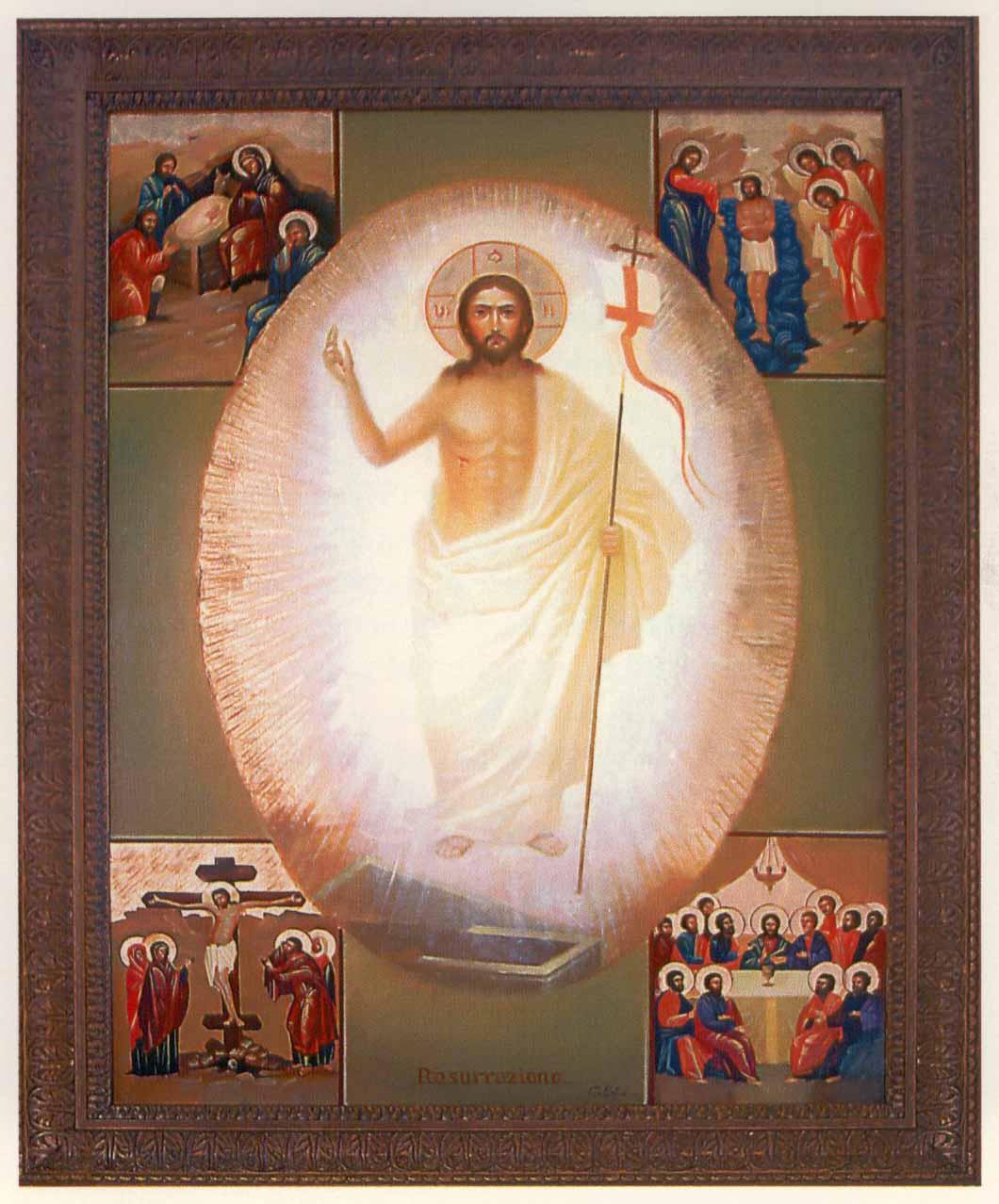 Icone du Christ ressuscité dans images sacrée icona
