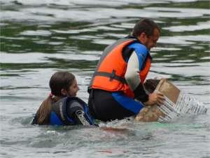 un naufragio durante la soap kayak race