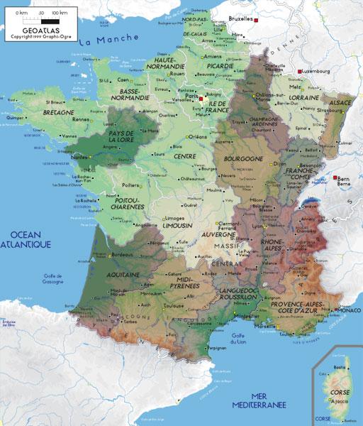 Regioni Della Francia Cartina.Avignone Pont Du Gard