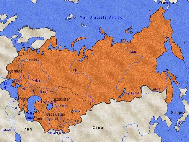 Cartina Urss.Rivoluzione Russa