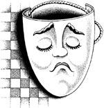 maschera triste