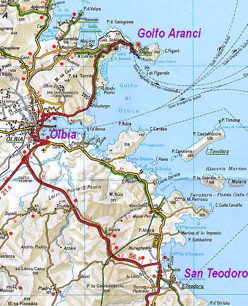 Cartina Sardegna Settentrionale.Mare Di Sardegna San Teodoro