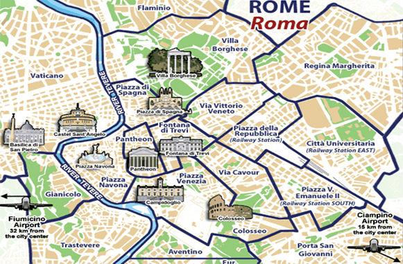 Cartina Monumenti Roma Pdf.Mappa Monumenti Roma Antica