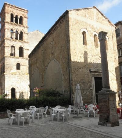 campanile con la chiesa di san Silvestro