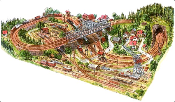 Schemi Elettrici Per Fermodellismo : Idee e progetti schemi tracciati per plastici ferroviari h n