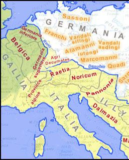 Fiume Elba Cartina Geografica.Mappa Della Frontiera Europea Nel Iii Secolo