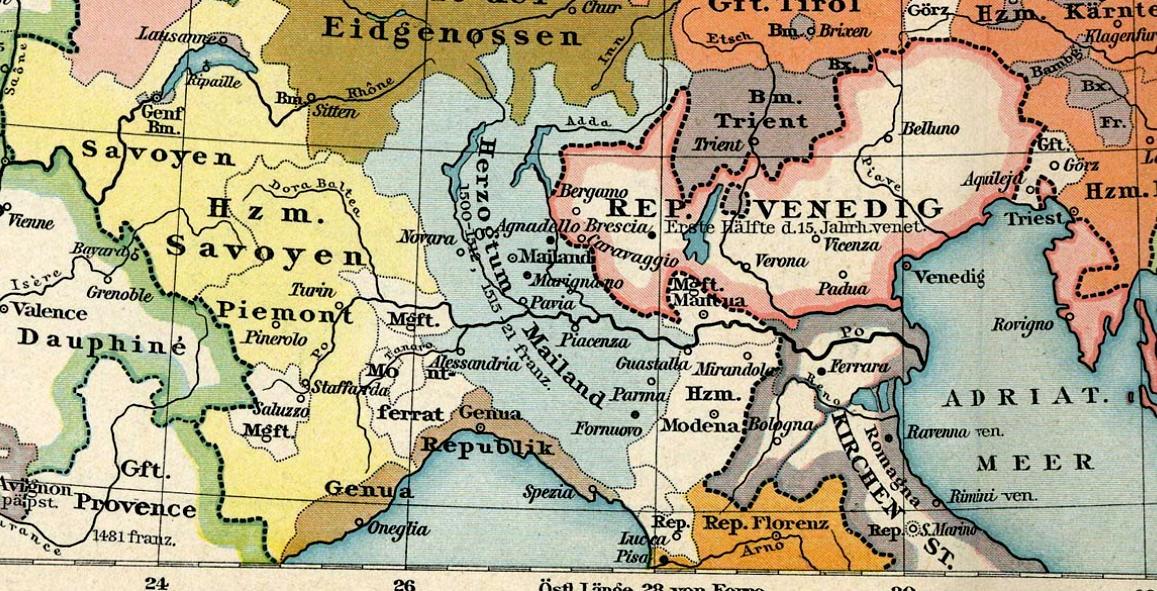Cartina Italia Anno 500.L Italia Del 600