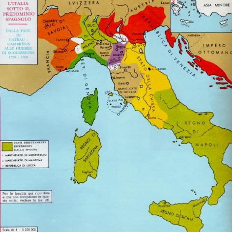 Cartina Italia Nel 500.L Italia Del 600