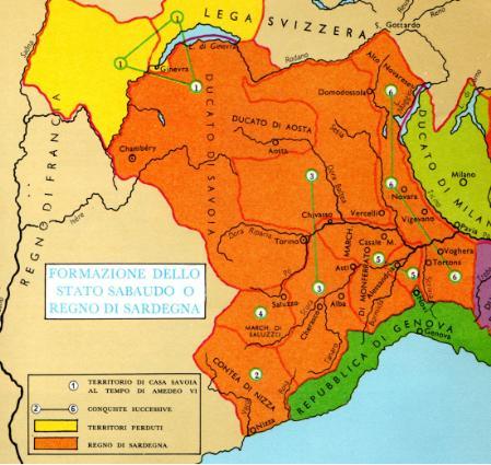 Cartina Del Regno Di Sardegna.Formazione Del Ducato Dei Savoia